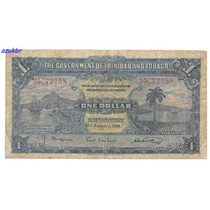 * Trindad And Tobago - 1 Dollar 2.1.1939 - P.5b - Bc *