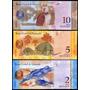 Venezuela P-88-90 3 Cédulas Fe 2/5/10 Pesos * Q J *