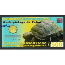 * Galapagos Antartica 500 Nuevos Sucres 2009 - Polímero Fe *