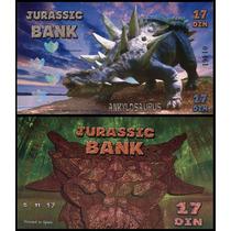 Jurassic Bank 17 Din 2015 Fe Ankylosaurus Polimero * Q J *