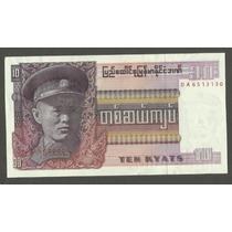 Cedula - Da Burma / Myanmar De 10 Kyats - Fe - Bela