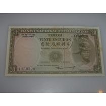 Timor 20$00 Escudos De 1967 Fe Com Peq. Mancha
