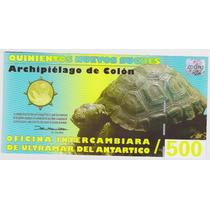 Cédulas - Galápagos - 500 Nuevos Sucres 2009 - Fe - Polímero