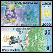 El Yucatania Maya 2.000 Soles De Oro 2012 Fe Polímero * Q J