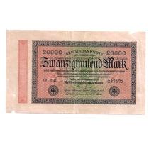 Cedula Estrangeira - Alemanha 20.000 Marcos De 1923 - Mbc