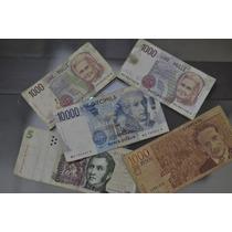 Lote Dinheiro Notas Antigas Lire Peso - Frete Gratis