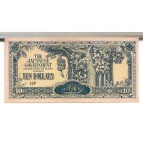 Cedula Estrangeira - Malaya - Invasão Japonesa 10 Dolares -f