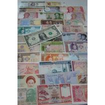 Cédulas Estrangeiras 33 Diferentes Até Dólar Originais Fe