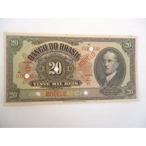 Cédula Modelo De 20 Mil Reis (banco Do Brasil)