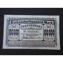 2169 - Antiga Cédula Da Alemanha 100.000 Mark Mbc+