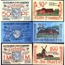 Germany Alemanha Bordelum L-135 S/fe 3 Notgelds 1922 * Q J *