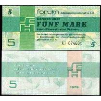 Germany Dem Republic Alemanha P-fx3 Fe 5 Mark 1979 * Q J *
