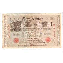 Linda Cédula Alemanha - 1000 Marcos De 1910 - Vejam A Foto !