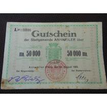1693 - Antiga Cédula Da Alemanha 50000 Mark 1923 Bc/mbc