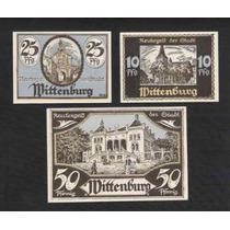 Germany Alemanha Wittenburg L-1407a S/fe 3 Notgelds 1922 Q J