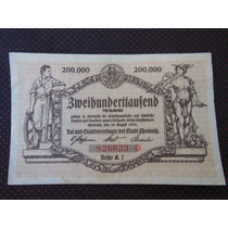 1912 - Antiga Cédula Alemanha 200 Mil Mark 1922 Mbc/s