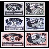 Germany Alemanha Stammbach L-1221a S/fe 3 Notgelds 1921 Q J