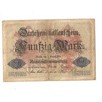 Cédula Da Alemanha - Antiga E Rara Ano 1914 Dinheiro Antigo