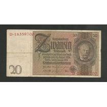 Alemanha 20 R.marcos 1929 P. 181a Mbc Cédula - Tchequito