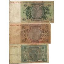 Lote De 3 Cédulas Alemanha 10, 20 E 50 Mark 1933 Mbc