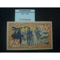 (ext.109) Alemanha - Notgeld - 75 Pfenning - 1921 - Fe