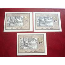 Colecionismo - 3 Cédulas Notgeld Alemanha 1922