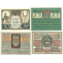 Alemanha / Höxter 1921 4 Notgelds Diferentes Fe