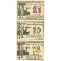 Alemanha / Blumenthal 1921 3 Notgelds Diferentes Fe