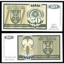 Bósnia Herzegovina 50 Dinara 1992 P.134 Fe Cédula- Tchequito