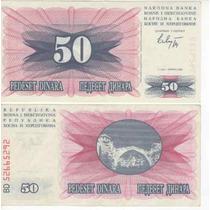 Cedula Da Bosnia De 50 Dinara - Fe