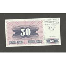 Cedula - Bosnia Herzegovina 50 Dinaras 1992 - Fe - Linda