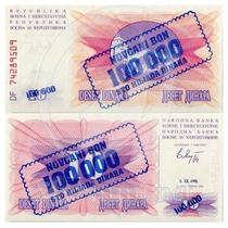 Bosnia Erzegovina 100.000 Dinara 1993 - Fe