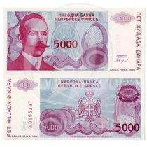 Bosnia 5000 Dinara 1993 - Fe