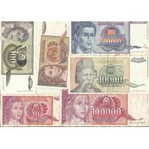 01 - Iugoslavia 10 Cedulas Diferentes - Usadas - Ver Fotos.