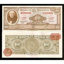México 100 Pesos 1970 P. 61e S/fe Cédula - Tchequito