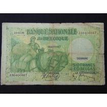 2237 - Antiga E Escassa Cédula Da Bélgica 50 Frank Bc 1938