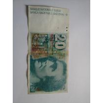 Cédula Antiga - Nota - 20 Franco Suíço - Otimo Estado