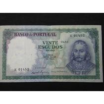 2447 - Cédula De Portugal 20 Escudos 1960 - Mbc/sob