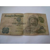 Cédula Antiga 20 Escudos 1971 Garcia De Orta