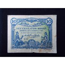 2562 - Cédula De Portugal 10 Centavos 1917 Mbc.