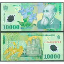Cédula Romênia 10.000 Lei Ano: 2000 Polímero Fe Flores Flora