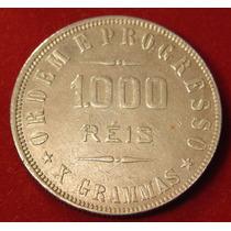 Moeda Prata 1000 Réis 1912, X Grammas, Data Escassa, Soberba