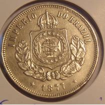 Moeda Do Império, 200 Reis 1877, Belo Exemplar E Conservação