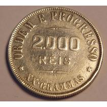 Moeda Antiga 2000 Reis Em Prata 1911, Xxgramas (20grs), P26a