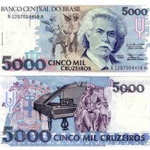 Cédula Nota 5.000 Cinco Mil Cruzeiros - Carlos Gomes