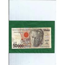 Cedulas Cinquenta Mil Cruzeiros - Ano 1992 - 7.00 E. Gratis