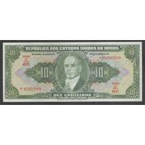 C075 - Brasil 10 Cruzeiros 1950, Autografada Estampa 2a S/fe