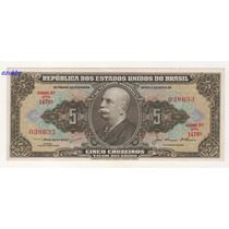 * C068 - 5 Cruzeiros Lemos/alkimim Ano 1956 C-068 Sob *