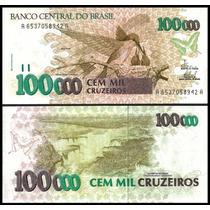 C-230 Brasil Fe 100000 Cruzeiros 1993 Beija-flor * Q J *