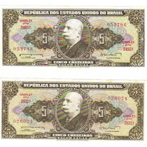 Cédula Dinheiro Antigo, 5 Cruzeiros, C-071 Barão Rio Branco